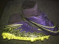 Socked football boots