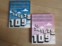 SET OF 2 MATHS BOOKS - secondary school level (extra help) - REDUCED TODAY!