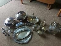 **Job Lot** Silver plated serving dishes