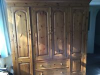 Large wooden wardrobe for sale