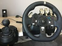 Logitech G920 Steering Wheel for PC and Xbox + Shifter