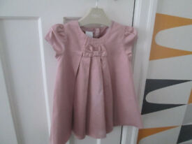JUNIOR JASPER CONRAN BABY GIRLS PALE PINK DRESS - BNWT - AGE 9-12 MONTHS