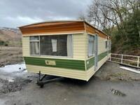 Static caravan off site