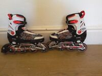 Nearly new 4 sizes inline skates up to size 39/40
