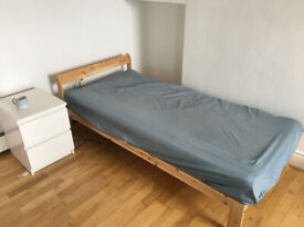 BED (all wood, single bed) + MATTRESS (memory foam)