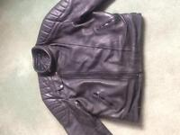 Leather bickers jacket