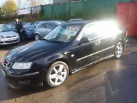 Saab 9-3 Vector,Turbo Diesel 4 door saloon,private reg,cream half leather seats,runs and drives well