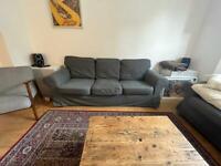 *QUICK SALE* Ikea ektorp sofas in dark grey