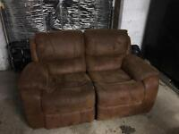 5ft reclining leather sofas