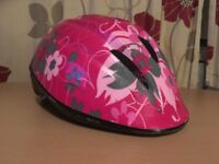 pink girls bike helmet