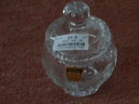 CRYSTAL CUT-GLASS JAR (BOUGHT FROM HARRODS) - NEW