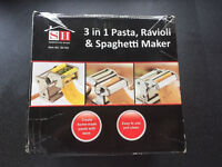 3 in 1 Pasta, Ravioli And Spaghetti Maker Sherwood Home Easy To Use And Clean