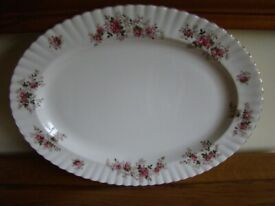 Royal Albert Lavender Rose Oval Serving Plate Good Condition