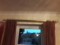 Gold sash operated curtain rails