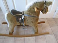 rocking horse- mama & papas - few scratches on legs- rest is fab 95cm x 64cm -very heavy