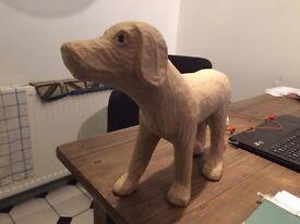 Papier Mache Dog for decopatch