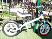 Blue Kettler balance bike. In barely used condition.
