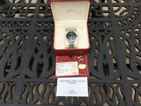 Omega seamaster 300m full size with box , warranty card and spare links