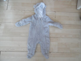Baby fleece pramsuit