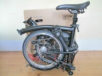 New & Unused Limited Edition Brompton Folding Bike With Accessories