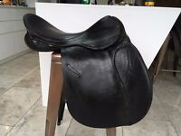 G Fieldhouse General Purpose Saddle, black leather, 19inch, wide gullent, excellent condition