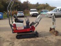 mini micro digger excavator takeuchi TB108 not kubota or jcb, yanmar engine
