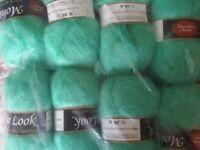 8 balls mohair like acrylic knitting yarn