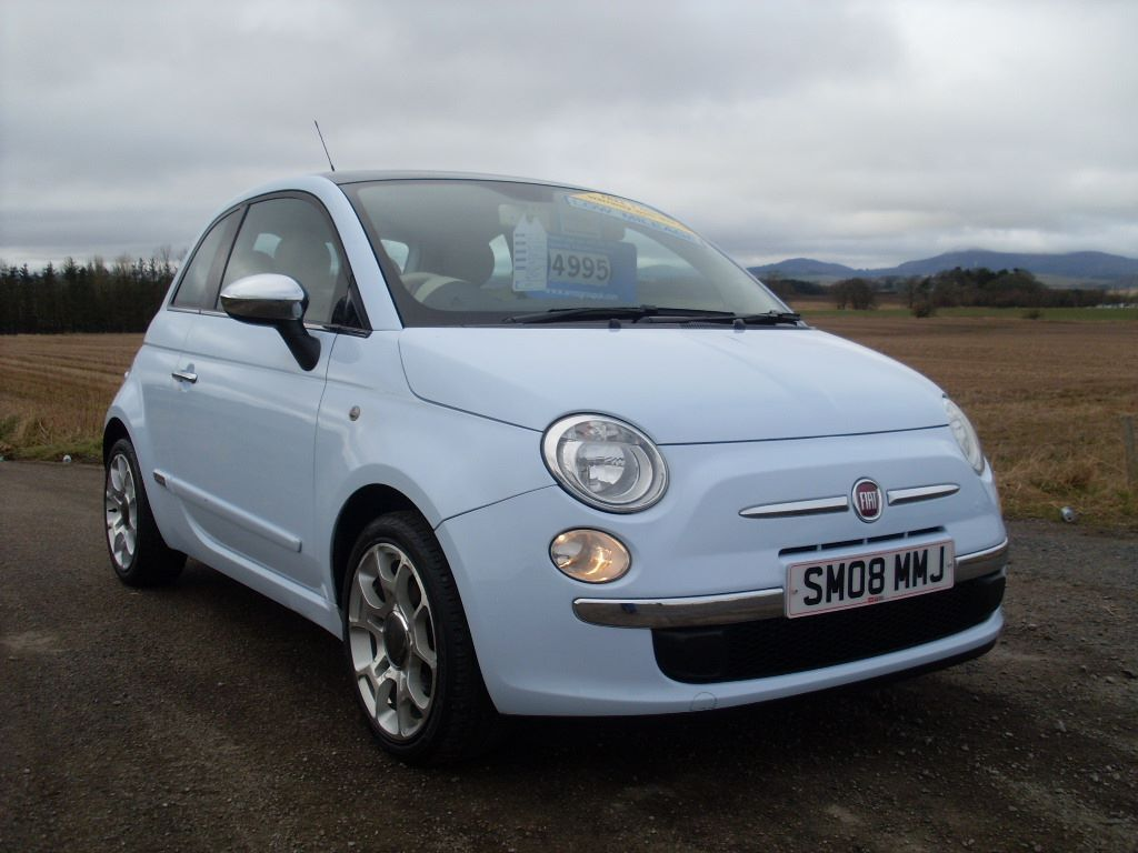 2008 fiat 500 lounge 1 4 great car must see baby blue. Black Bedroom Furniture Sets. Home Design Ideas