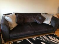 Beautiful 4 seater sofa & storage pouffe for sale