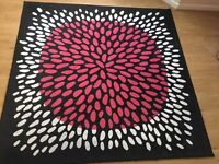 Ikea abstract rug, measurements (200x200cm), good condition, barely been used. QUICK SALE!!