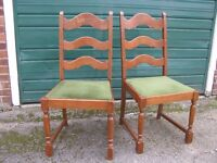 OAK Dining Table and Set of SIX Upholstered Oak Dining Chairs - Going Cheap for Quick Sale