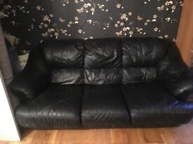 Leather sofa in good condition 3 seater and Single armchair In good condition