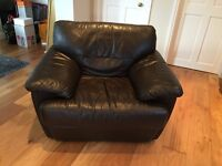 Brown leather armchair for sale - £50. Fantastic condition. Collect only from near Thame.
