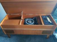 Vintage record player unit