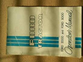 Ford Tractor 2000/3000 Manual