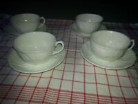 Wedgwood 'Countryware' teacups & saucers x4