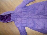 Childrens Coat. Purple. John Lewis. Age 6 years.