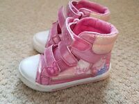 Peppa Pig hi top pink shoes size 8
