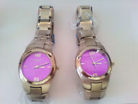 Ladies Stainless Steel Watch - Purple Face - New