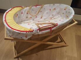 Mothercare Moses basket with stand brand new