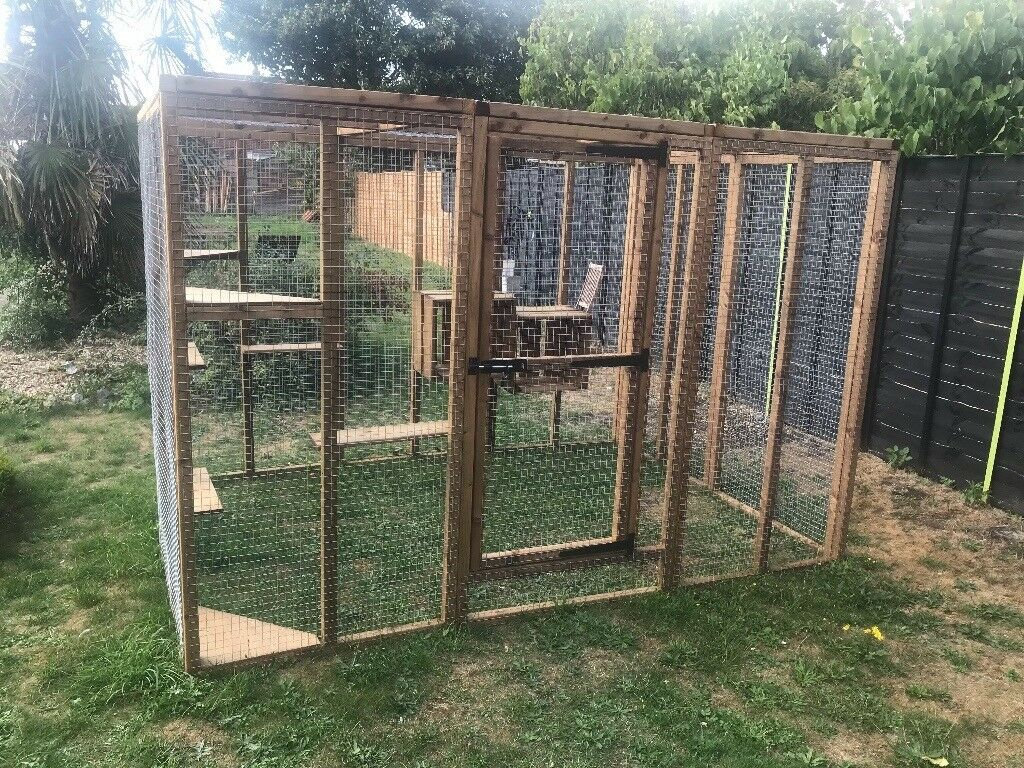 Cat Run 6ft X 9ft House Enclosure Outdoor Play Pen Catio Free Standing Dog Rabbit