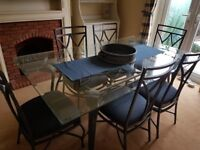 Dining table and 6 chairs - immaculate!