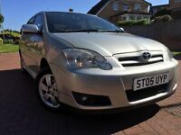 *AUTOMATIC*12 MTHS WARRANTY*12 MTHS MOT*2005(05)TOYOTA COROLLA 1.6 VVT-I AUTO COLOUR COLLECTION*