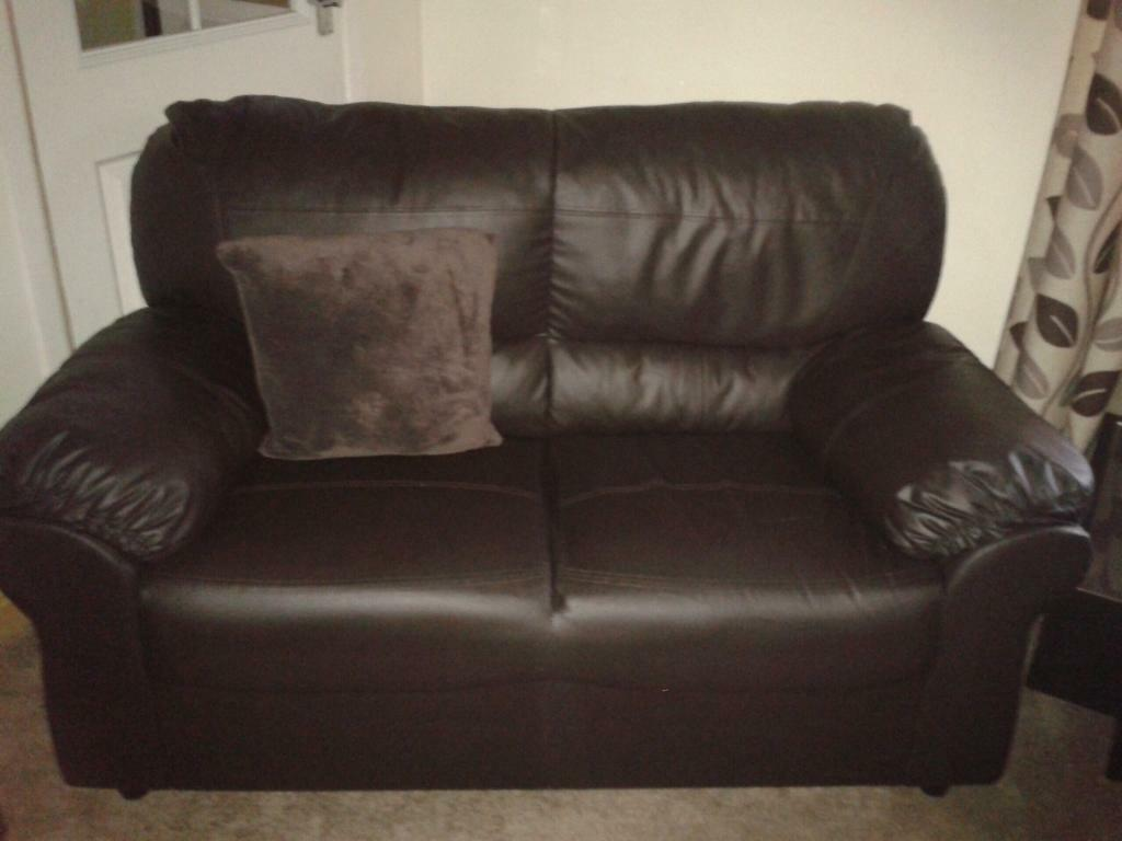 3 2 Seater Brown Leather Sofas In Sheffield South