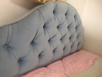 Single bed base and 2 vintage headboards