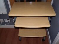 **CHEAP** PINE COMPUTER TABLE AND LEATHER OFFICE CHAIR DUNDEE DELIVER **CHEAP**