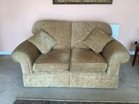 FREE - Marks & Spencer Two Seater Settee - Golden with Antique Script - FREE