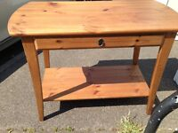 P INE CONSOLE TABLE WITH LONG DRAWER GOOD CONDITION