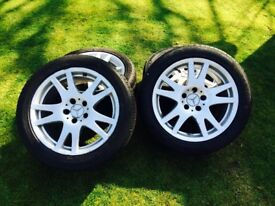 4 Genuine Mercedes ClS 17 inch tyres. Good condition