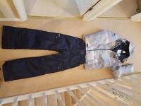 """Youth Ski Jacket and Trousers. Male. Fits slim build 5'3"""" - 5'7"""" suitable for boarding or skiing-"""